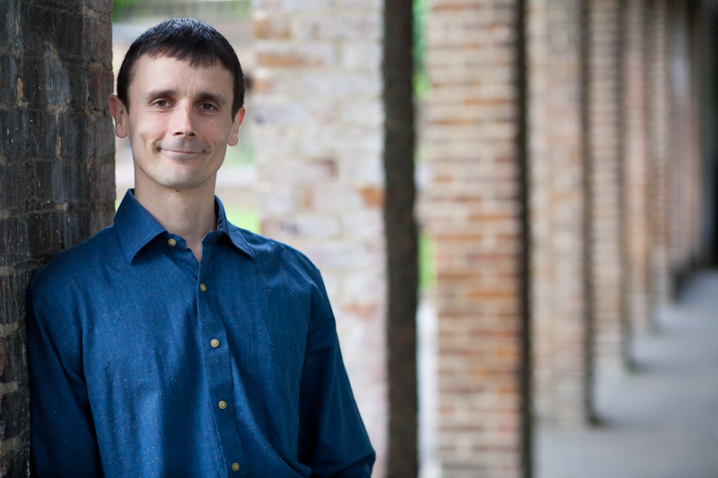 Portrait of Tristan Titeux in blue shirt