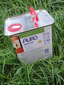 Auro Eco Oil in grass