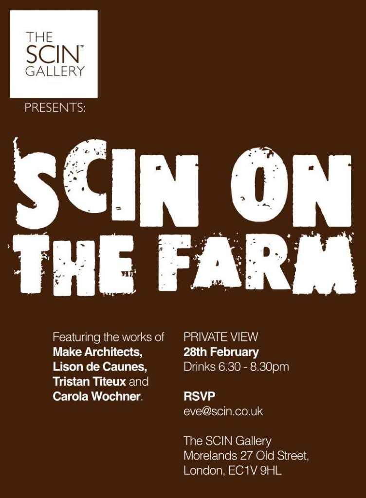 Flyer for private view invitation to SCIN on the farm