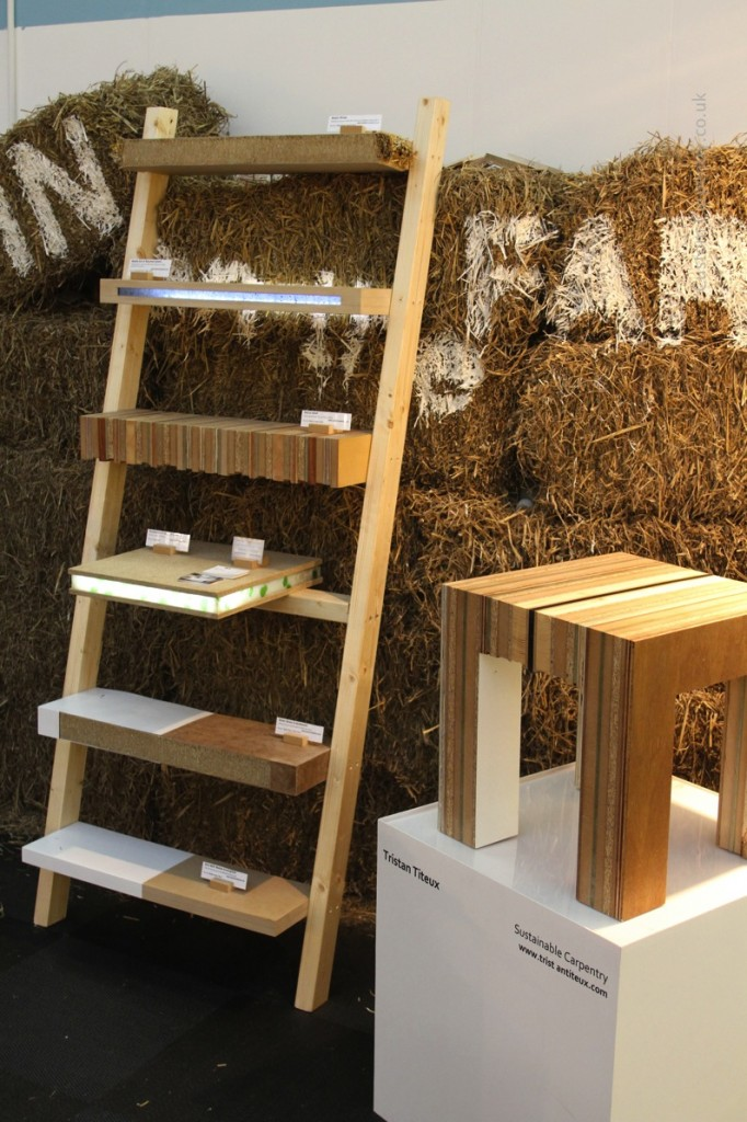 Eco Shelves and talbe made from waste offcuts