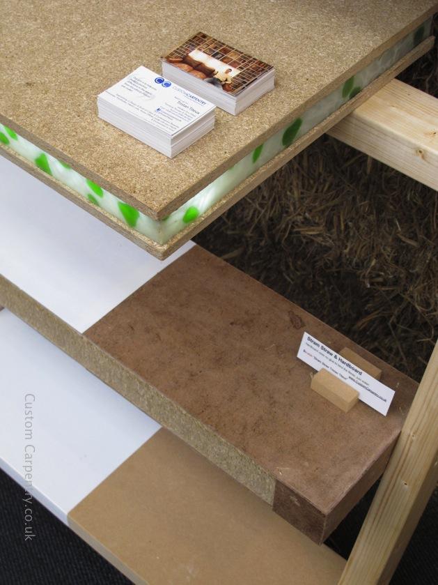 Three shelves made using eco friendly materials.
