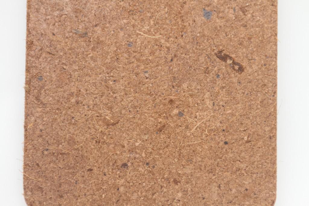 Coconut sawdust and fibre board.