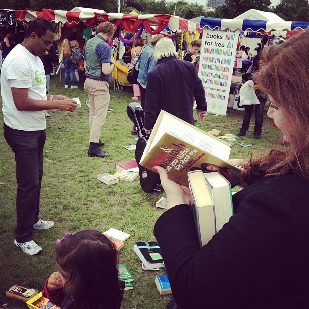 Books for free at the London Green fair