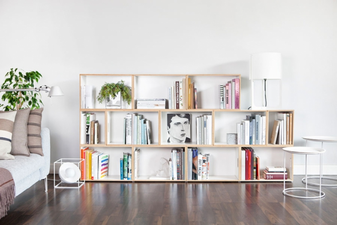 Bookcase Shelving Made From Birch Plywood